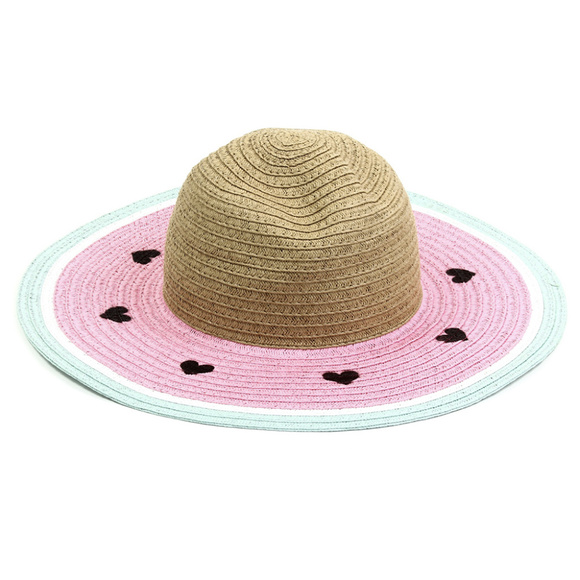 Limited Too Other - Pink Watermelon Floppy Sunhat. Heart Shaped Seeds!